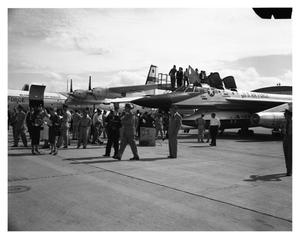 Primary view of object titled 'B-58 On Display at Carswell AFB Air Show'.