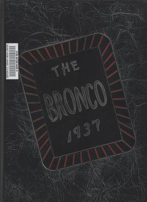 Primary view of object titled 'The Bronco, Yearbook of Denton high School, 1937'.