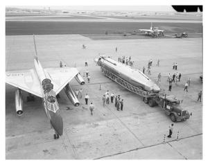 Primary view of object titled '[B-58 and Atlas Sitting on a Ramp]'.
