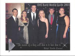 Primary view of object titled 'DHS Band Media Guide 2003'.