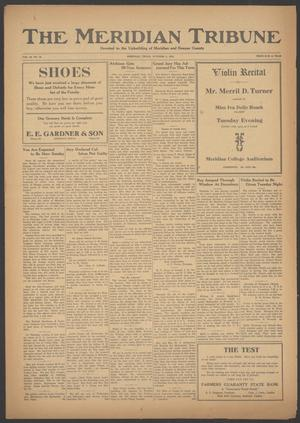 Primary view of object titled 'The Meridian Tribune (Meridian, Tex.), Vol. 28, No. 18, Ed. 1 Friday, October 6, 1922'.