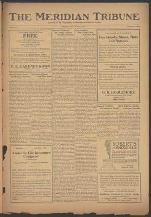 Primary view of object titled 'The Meridian Tribune (Meridian, Tex.), Vol. 28, No. 9, Ed. 1 Friday, August 4, 1922'.