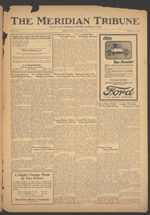 Primary view of object titled 'The Meridian Tribune (Meridian, Tex.), Vol. 30, No. 22, Ed. 1 Friday, November 2, 1923'.