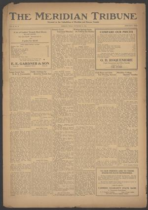 Primary view of object titled 'The Meridian Tribune (Meridian, Tex.), Vol. 28, No. 16, Ed. 1 Friday, September 22, 1922'.