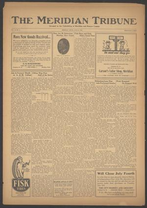 Primary view of object titled 'The Meridian Tribune (Meridian, Tex.), Vol. 29, No. 4, Ed. 1 Friday, June 29, 1923'.
