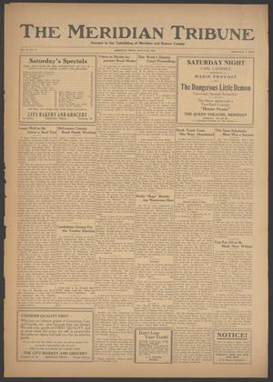 Primary view of object titled 'The Meridian Tribune (Meridian, Tex.), Vol. 28, No. 43, Ed. 1 Friday, March 30, 1923'.