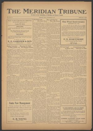 Primary view of object titled 'The Meridian Tribune (Meridian, Tex.), Vol. 28, No. 17, Ed. 1 Friday, September 29, 1922'.