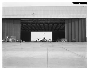 Primary view of object titled '[B-58 Sitting in Experimental Building]'.