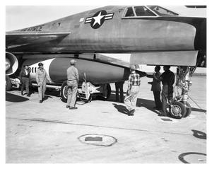 Primary view of object titled '[B-58 FPod Loading]'.