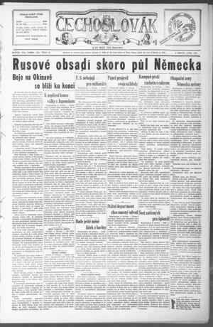 Primary view of object titled 'Čechoslovák and Westske Noviny (West, Tex.), Vol. 34, No. 23, Ed. 1 Friday, June 8, 1945'.