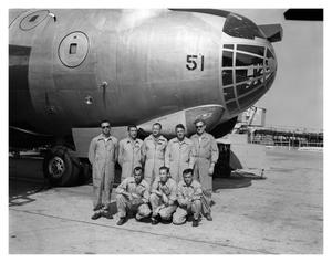 Primary view of object titled '[Crew of Last Flight of B-36 #51]'.