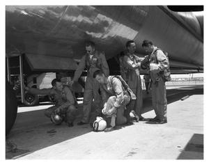Primary view of object titled 'Crew Preparing to Board XB-36H #242'.