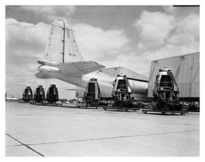 Primary view of object titled 'Six engines belonging to B-36 Airplane'.
