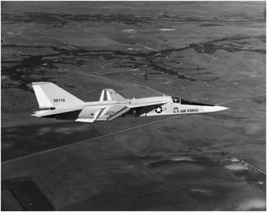Primary view of object titled 'F-111A #5 In Flight'.