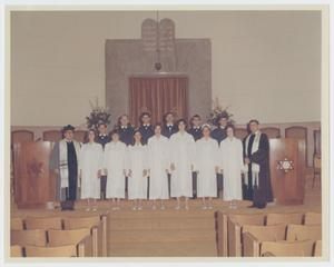 Primary view of object titled '[Congregation Ahavath Sholom Confirmation Class, 1968]'.