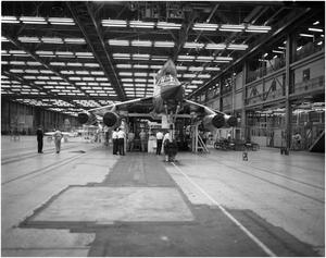 Primary view of object titled 'Last B-58 #116 Leaving Assembly Line'.