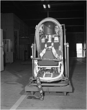 Primary view of object titled 'B-58 Escape Capsule Pre-production'.