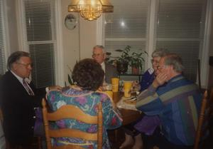 Primary view of object titled '[Photograph of Dining Table at HSU Alumni Meeting]'.