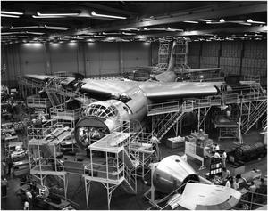 Primary view of object titled 'YB-60 #2 in an Airplane Hanger'.