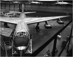 Primary view of object titled 'YB-60 Being Removed From Hanger'.