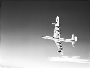 Primary view of object titled 'B-36D #54 In Flight'.