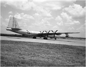Primary view of object titled 'B-36D #93, 3/4 Right Rear View'.