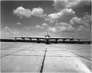 Primary view of object titled 'B-36D #93, Front View'.