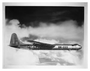 Primary view of object titled 'B-36B #30 in Flight'.