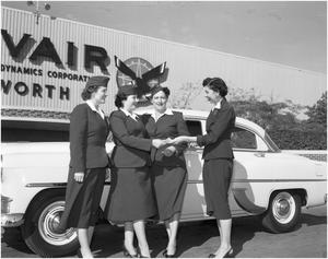 Primary view of object titled 'Convair Traffic Department Drivers' New Uniforms'.