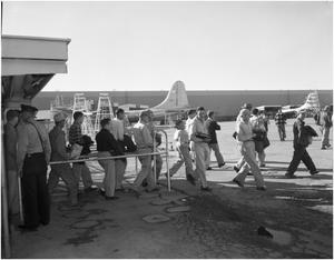 Primary view of object titled 'Convair Employees Gate at Shift Change'.