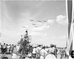 Primary view of object titled 'Crowd Watching B-36s in Formation'.