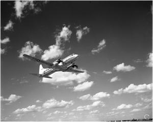 Primary view of object titled 'U.S. Air Force Airplane in Flight'.