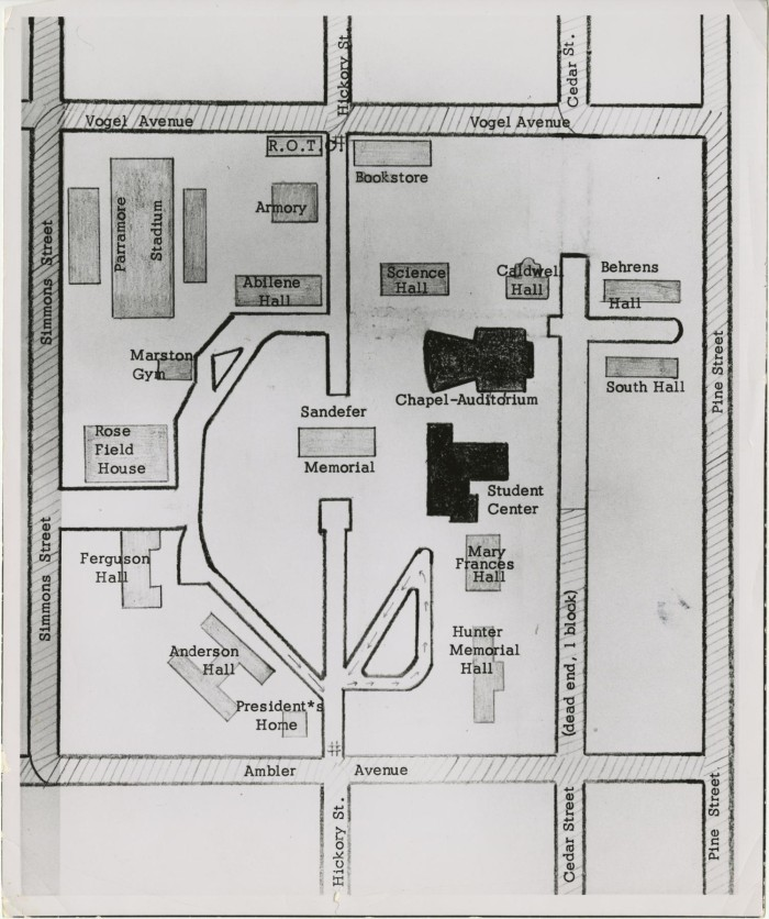 Map of the Hardin-Simmons University Campus] - The Portal to Texas ...