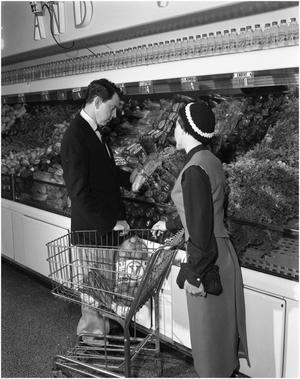 Primary view of object titled 'Mr. and Mrs. Middleton Shop for Groceries'.