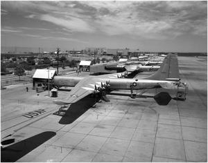 Primary view of object titled 'B-36 Flight Line'.