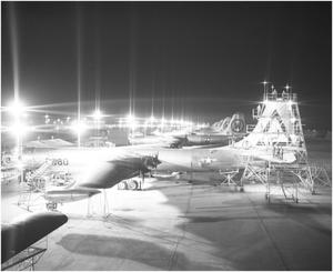 Primary view of object titled 'Ramp Work Area at night'.