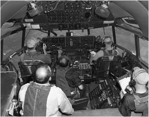 Primary view of object titled 'XC-99 flight deck during flight'.