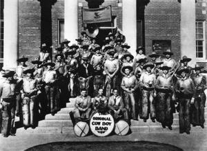 Primary view of object titled '[Photograph of Cowboy Band]'.