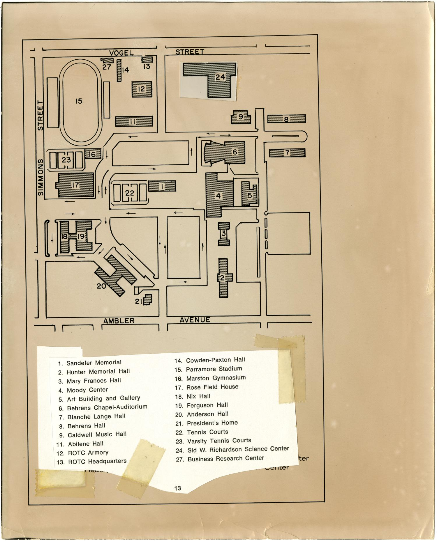 Map Of The Hardin Simmons University Campus The Portal To Texas
