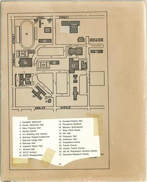 simmons college campus map Map Of The Hardin Simmons University Campus The Portal To Texas simmons college campus map