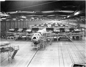 Primary view of object titled 'B-36 Assembly Line in 1951'.