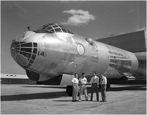 Primary view of object titled 'Last B-36A to become a B-36E'.