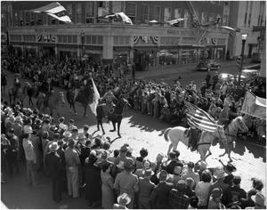 Primary view of object titled 'CVAC Employees in Stock Show Parade 1951'.