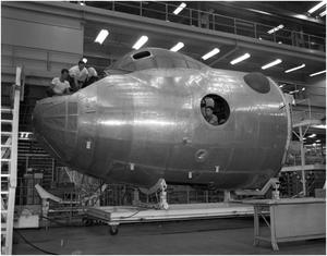 Primary view of object titled '[Converting a B-36A to a B-36E]'.