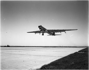 Primary view of object titled 'B-36 Taking Off'.