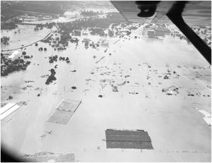 Primary view of object titled 'Aerial View of Flood in Fort Worth in 1949'.