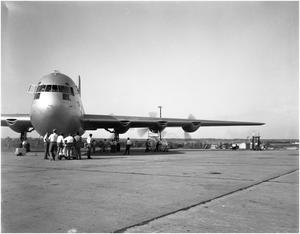Primary view of object titled 'Air Force Acceptance of XC-99'.