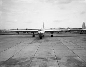 Primary view of object titled 'Full Front View of a B-36B'.