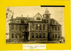 Primary view of object titled '[Photograph of Old Main Building]'.