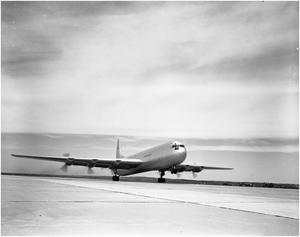 Primary view of object titled 'XC-99 on Takeoff'.